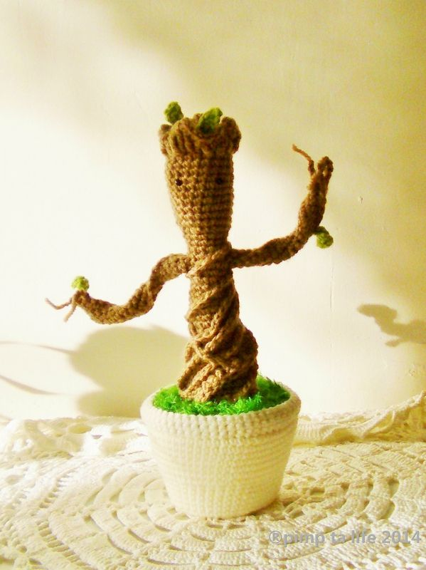 amigurumi the baby groot #crochet by : ®pimp ta life 2014