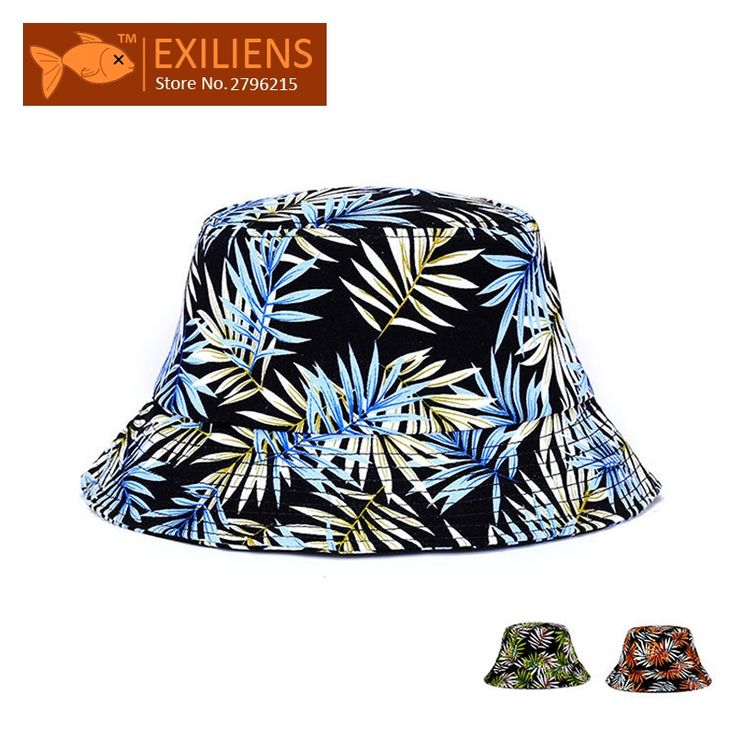 [EXILIENS] 2017 Fashion Brand Bucket Hats Cotton New Leaf Casual Fisherman Caps Hip-hop Hats For Men Women Lovely Colors Hat