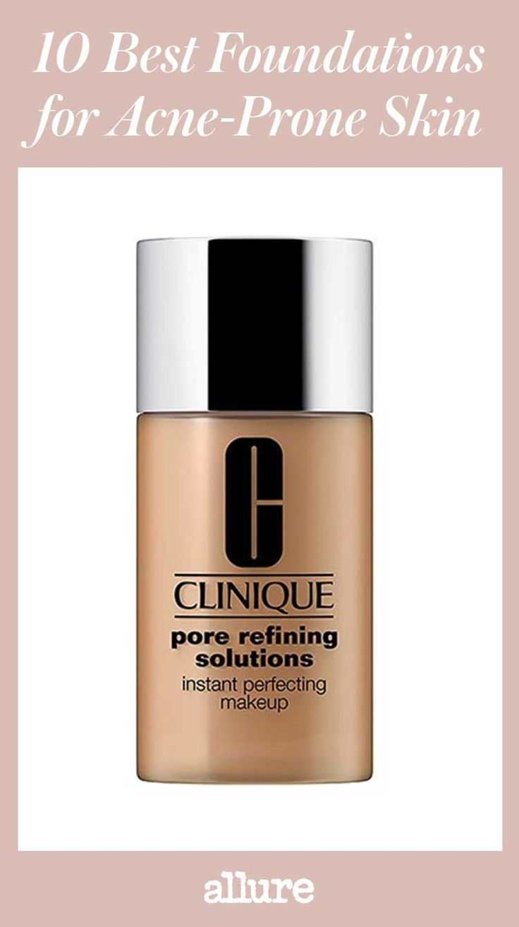 """If your skin breaks out faster than a Disney Channel actress onto the music scene, you know how laughable the makeup aisle can be. Oil-infused foundations for a """"sheer, dewy"""" finish? Hilarious. Shimmer-packed formulas guaranteed to make you glow? LOL. Ahead, only the best of the best foundations for acne-prone skin—no pore-clogging, face-drying, or skin-irritating formulas in sight."""