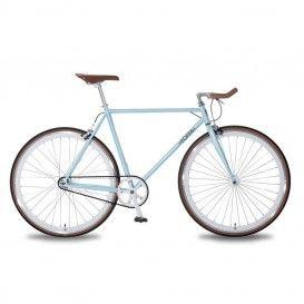 Bicicletta Uomo Scatto Fisso - Azzurro