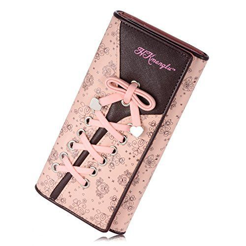Minetom Femmes Longue Portefeuille Fille Bonbon Élégant Porte-Monnaie Sac À Main Détenteurs De Cartes Wallet Rose One Size: Tweet…