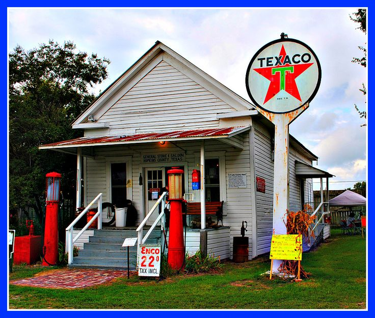 Old time store and filling station in Sulphur Springs.