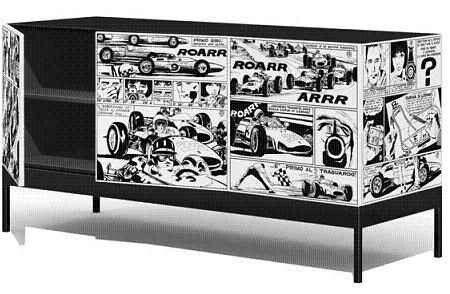 Mueble empapelado comic deco picks pinterest comic - Empapelar muebles ...