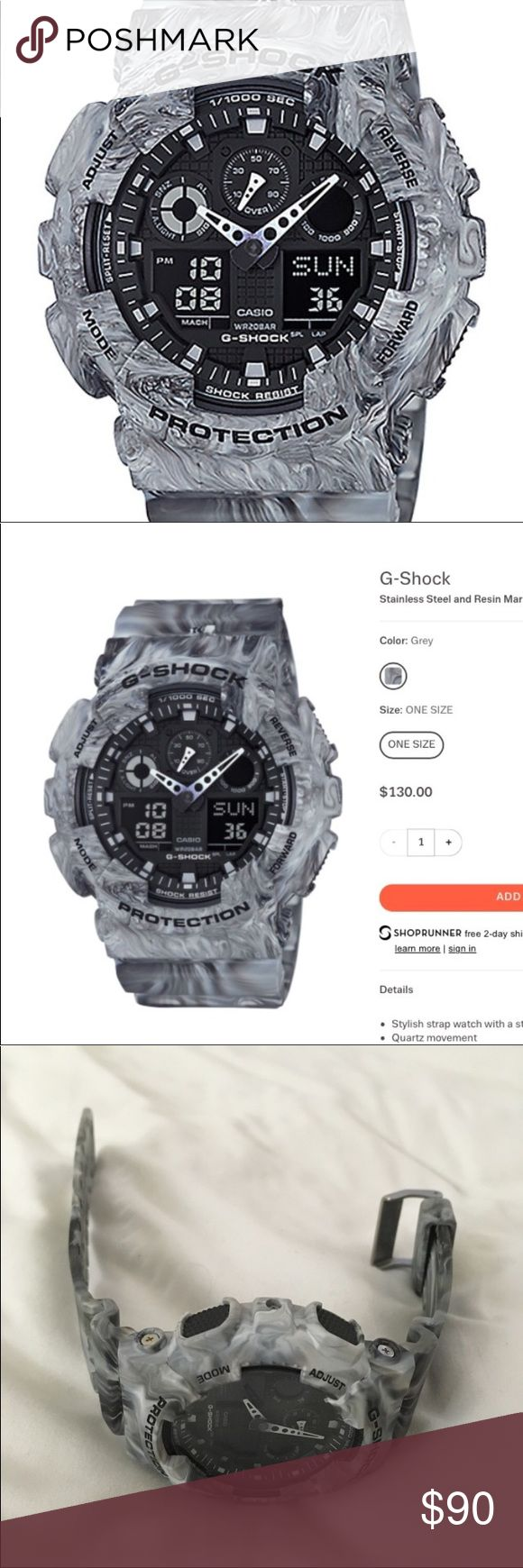 G shock marble watch Brand new G shock marble watch. Perfect condition: worth $130.00 g shock Accessories Watches