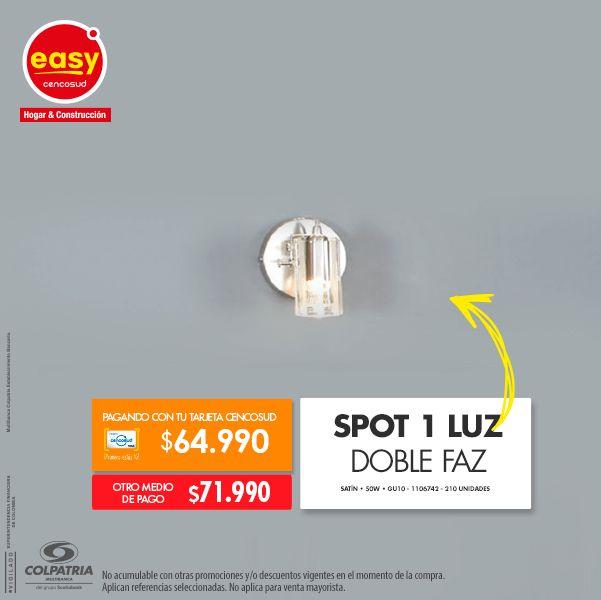 Spot 1 Luz Doble Faz • Satín • 50W • GU10 1106742 -