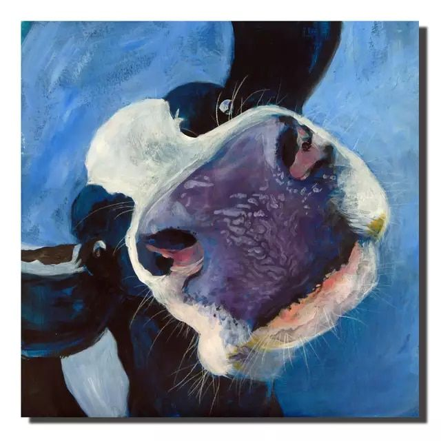 Online Shop Poster Canvas Painting Nordic Black And White Cows Oil Painting Wall Art Pictures For K In 2020 Wall Art Canvas Painting Farm Animal Paintings Cow Painting