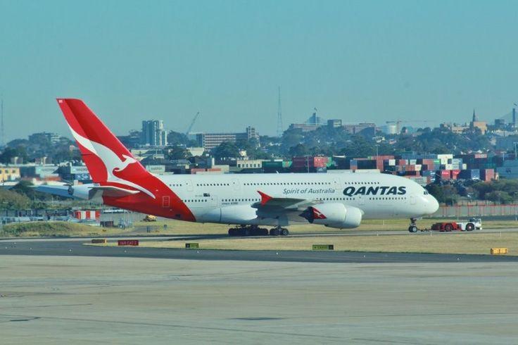 Qantas A380 at Sydney