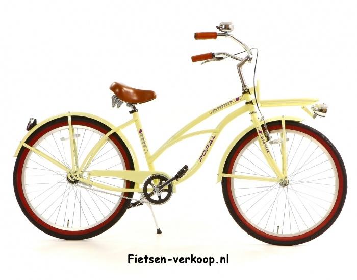 Damesfiets Californian Creme 26 Inch | bestel gemakkelijk online op Fietsen-verkoop.nl
