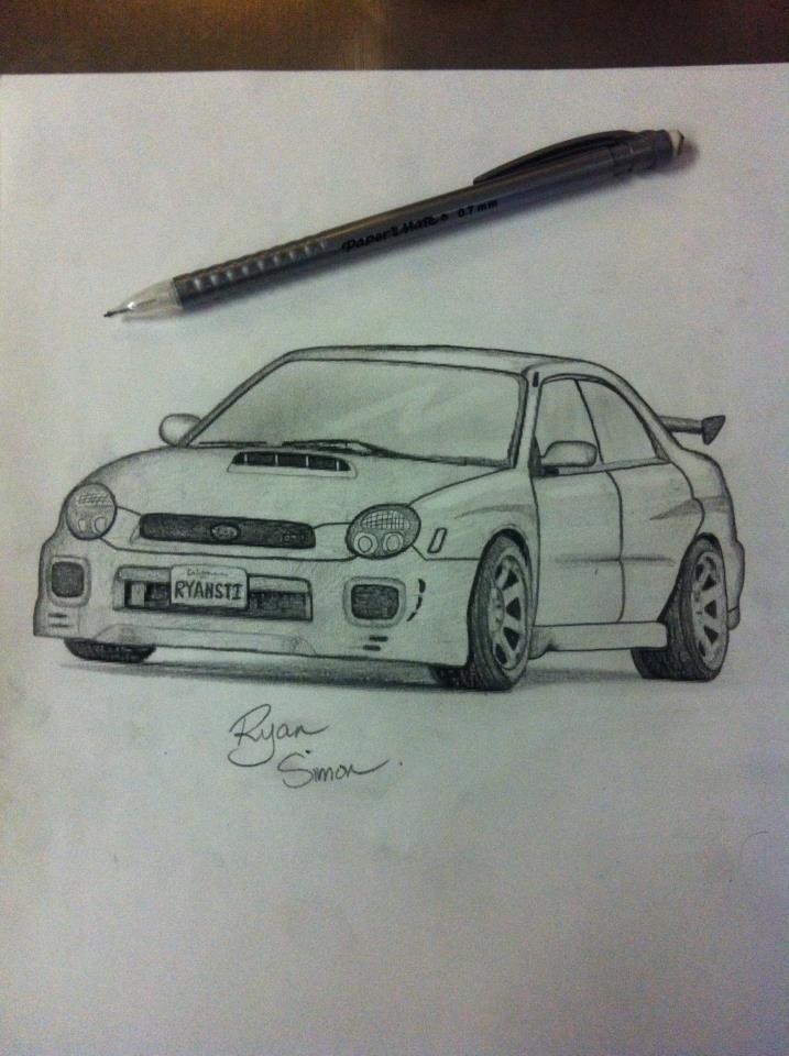 Subaru Wrx Bugeye Art Subaru Impreza Subaru Wrx Wrx