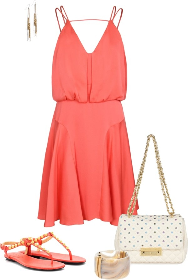 """Coral Spice"" by eliza-416 on Polyvore"