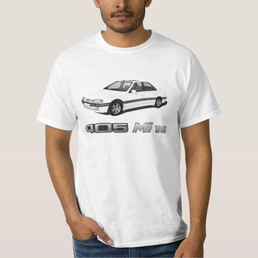 Peugeot 405 with Mi 16 metallic badge DIY  #peugeot #peugeot405 #automobile, #car #t-shirt, #print #europe #france #mi16 #405mi16  #white