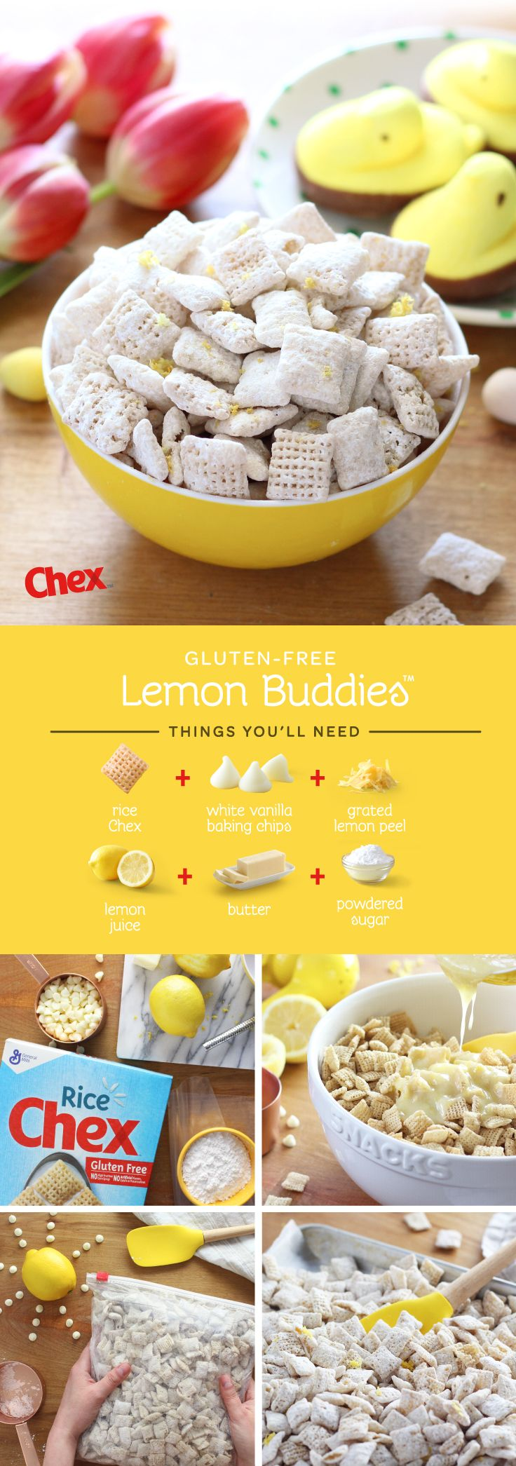 Made with fresh, real lemon flavor and a touch of sweetness, Lemon Buddies are here for Spring! Ready in 15 minutes and with just 4 ingredients, they make the perfect snack for Easter Brunch or any Spring celebration.
