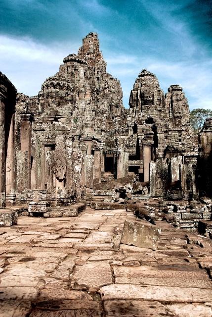 Bayonne at the temples of Angkor, Cambodia
