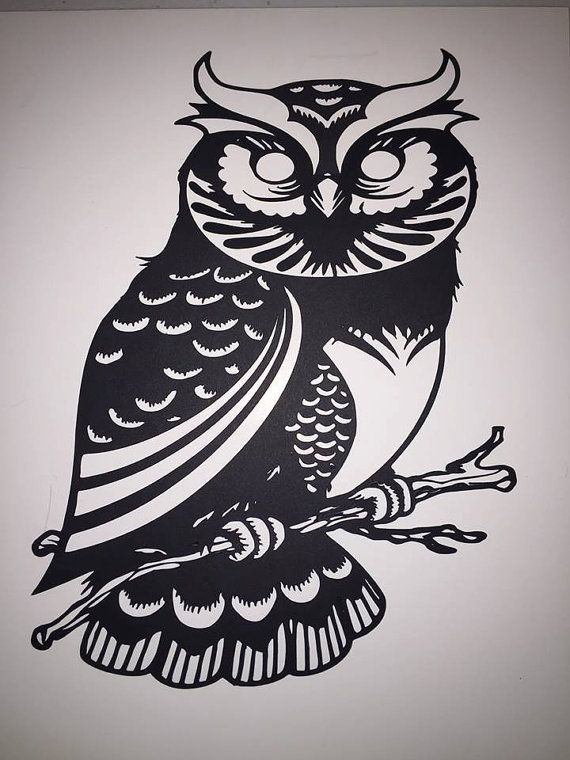 owl silhouette by rmgcrafts on etsy