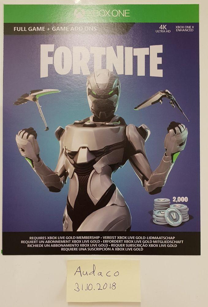 Fortnite Eon Cosmetic Skin Set 2000 V Bucks Code Xbox One
