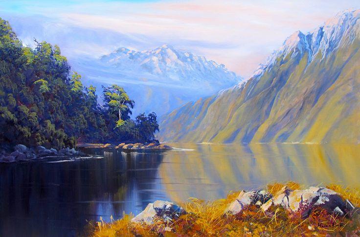 Glenorchy Mountains- By Helen Blair http://shop.helenblairsart.co.nz