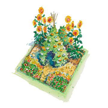 kids veggie garden plan from BHG