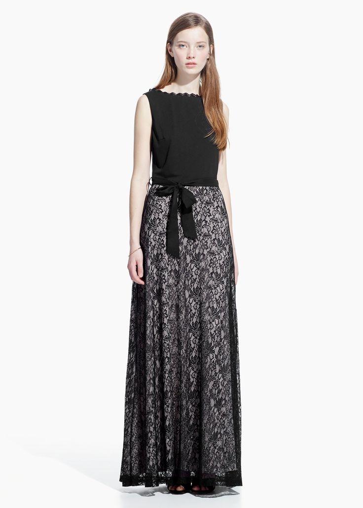 lace cute dress| MANGO