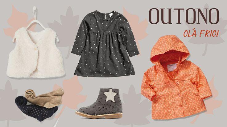 O friozinho do outono não é razão para as nossas meninas deixarem de usar vestidos. Mantemos as princesas quentinhas, secas e cheias de estilo, em conjuntos como este, de diversas marcas, por 69€! #bebé #menina #roupa #outono #miúdos #criança #moda