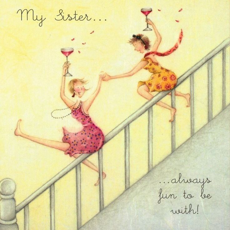 sister love  , Ladies Who Love Life ... Berni Parker funny cute
