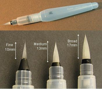 Pentel Arts Aquash Fine Point Water Brushes – The Value Products Global