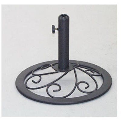 """Courtyard Creations 18' Ci Umbrella Base Xsy0320 Patio Umbrellas & Shades by COURTYARD CREATIONS. $27.33. Size : 18"""". Use with stacking program & portofino.. Portofino.. Umbrella base.. """"COURTYARD CREATIONS"""" UMBRELLA BASE. Woodfield Collection Umbrella Base measures 18-inch diameter. To find other pieces from the Woodfield Collection, search using keyword """"Woodfield."""". Save 22% Off!"""