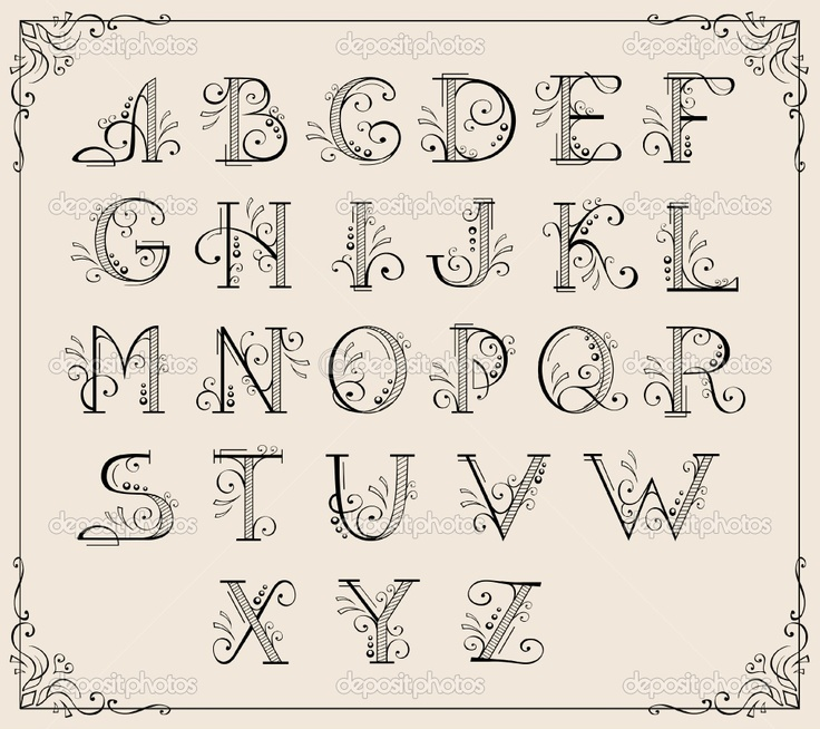 Calligraphy Examples | Calligraphy Alphabet Letters Examples