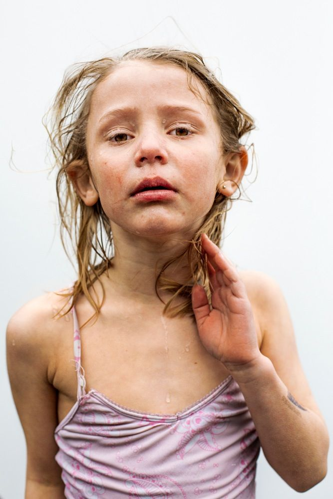 Portraits of Danish children right after ice swimming [5