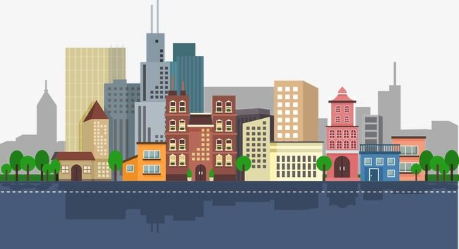Vector City Flat City Vector Condominium Building Png And Vector With Transparent Background For Free Download Gedung