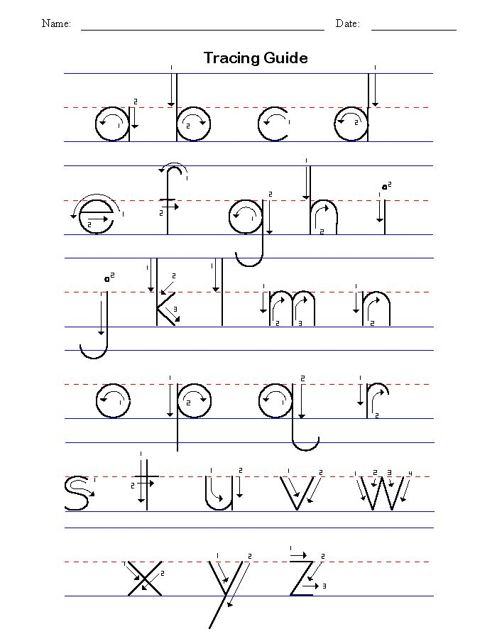 ... Template, Lowercase Tracing, Alphabet Guide, Guide Nuttin, Alphabet