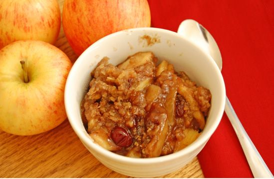 apple crisp in the slow cooker
