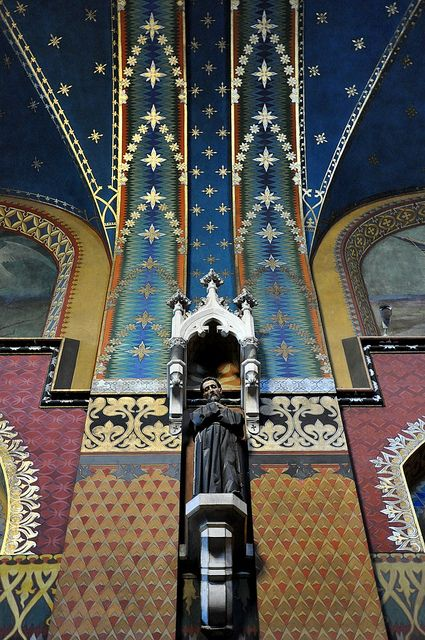 franciszkanie  - the polychromy by stanisław wyspiański (1869-1907) in the st. francis of assisi church in kraków.  (by bazylek100)
