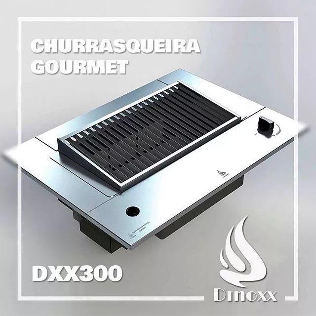 churrasqueira à gás de embutir em aço inox - dinoxx - dxx300