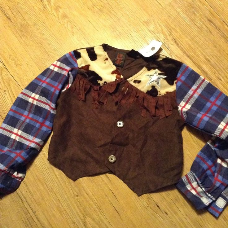 Western Cowgirl Youth Sheriff Costume Top  Size 5-6 Play Time New  | eBay