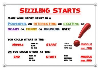 Sizzling story starters
