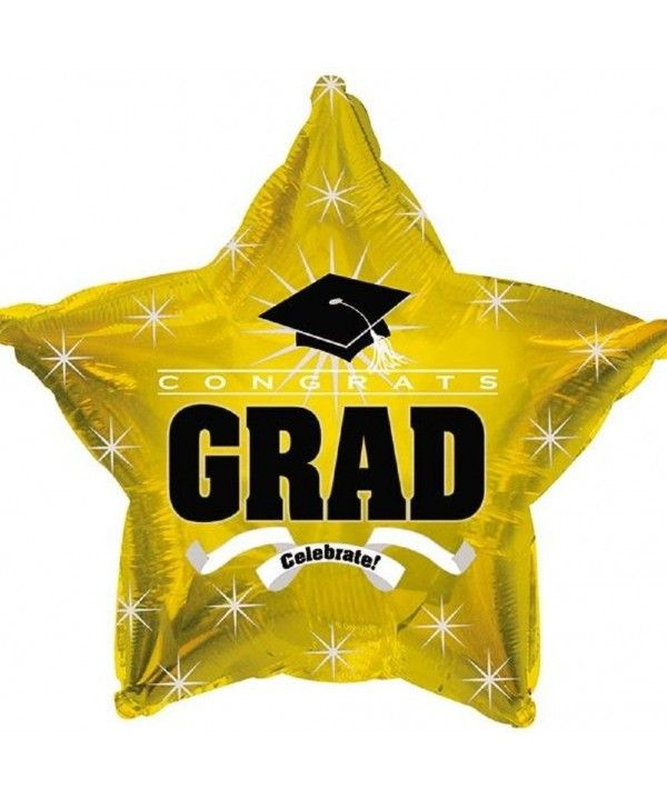 Star Shape Graduation Balloons School Colors - 5 Count (GOLD STAR) - Gold - CN17YQ65DO9,Event & Party Supplies, Shop By Collection, Decorations, Shop ...