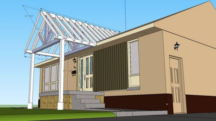 Building A Gable End Porch Cover House With Porch Building A Porch Porch Design
