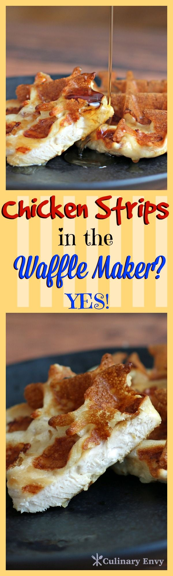 Chicken & Waffle Crisps are now the perfect ONE bite breakfast!  Great for KIDS! So EASY and TASTY!  You Will Love Them!