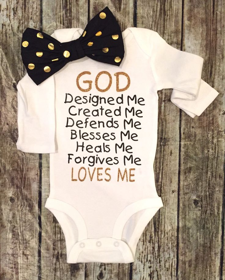 A personal favorite from my Etsy shop https://www.etsy.com/listing/266720866/baby-girl-bodysuit-god-answers-prayers