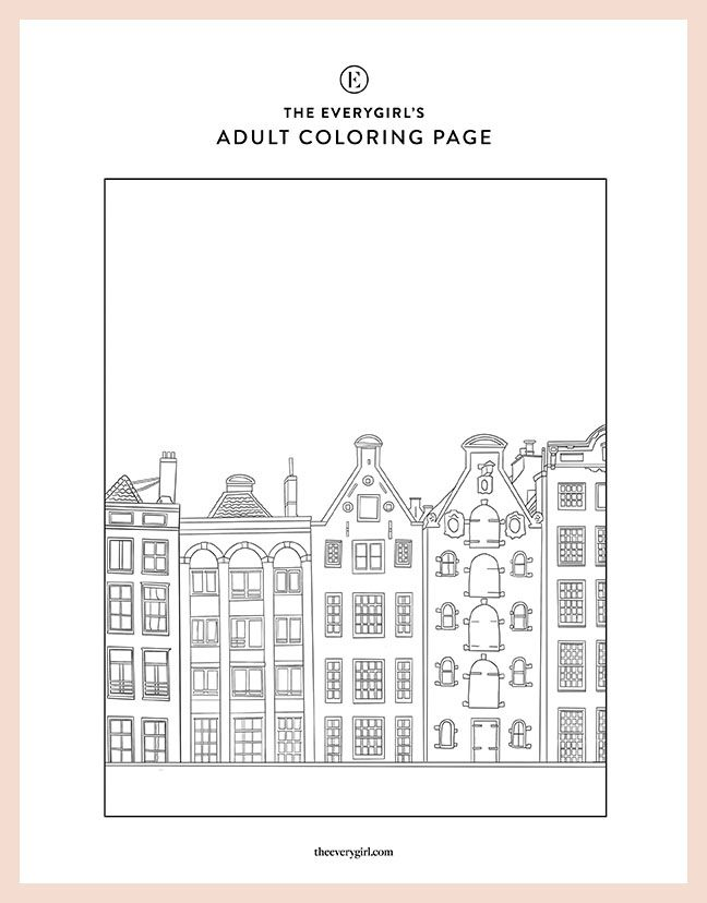 Week Four The Everygirl S Free Printable Coloring Pages In 2020 Printable Coloring Pages Coloring Pages Printable Coloring
