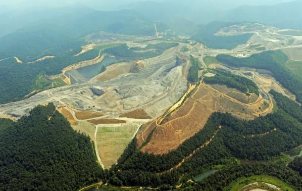 roads in the west virginia mountains | mountaintop removal mine