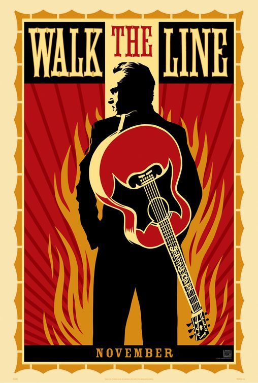 Walk The Line. Amazing movie poster. I need this for my mancave.: Movie Posters, Film, Numbers One, Picture-Black Posters, Walks The Line, Posters Design, Joaquin Phoenix, Johnny Cash, Johnnycash