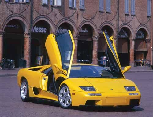 Lamborghini Diablo Pictures  2001 Lamborghini Diablo 6.0.  When Audi took over Lamborghini in the late 1990s, it wanted to use the 2001 Lamborghini Diablo 6.0 as a bridge to a new model (one that would eventually be named Murcielago). The car used the bored-out 6.0-liter V12 engine found in the racing versions of the Diablo, plus ABS and an upgraded interior. Photo Credit: Lamborghini SpA