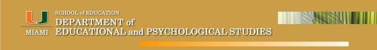 University of Miami - SCHOOL OF EDUCATION - Counseling Psychology - Ph.D. Program