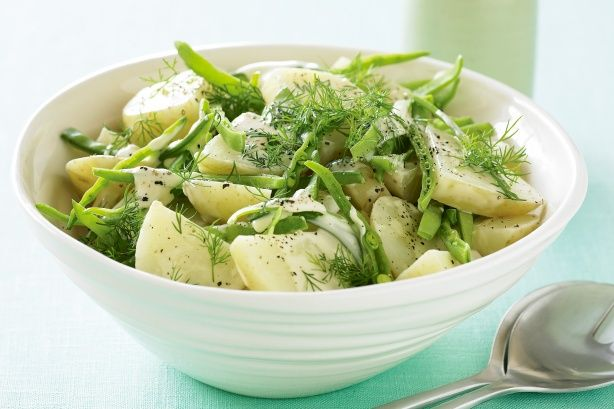 Horseradish potato salad. The peppery horseradish cream gives this potato salad a special spicy flavour.