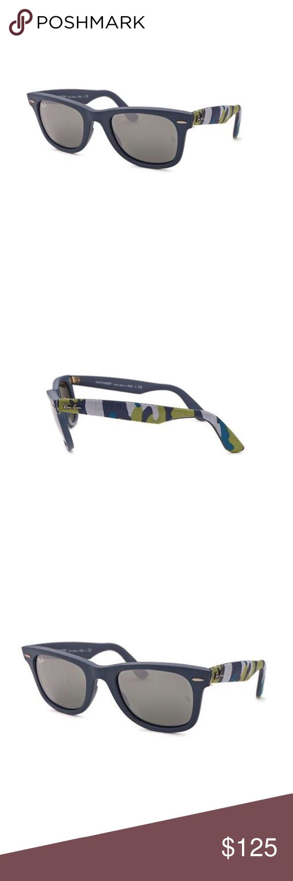 New RAY BAN WAYFARER Sunglasses Urban Camouflage Authentic New RAY BAN WAYFARER Sunglasses Urban Camouflage Grey/Camo, RB2140 6061/40 50-22 3N, BRAND NEW, Includes Original Box/Case/Cloth/Booklet Ray-Ban Accessories Sunglasses