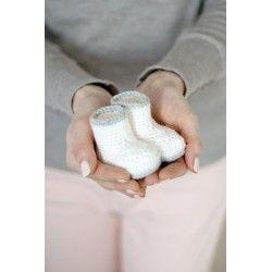 White crochet rain boots