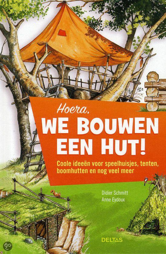 'Hoera, we bouwen een hut!' is een handige gids van Didier Schmidt & Anne Ayedoux met daarin tips voor het bouwen van een boomhut, schuilpla...