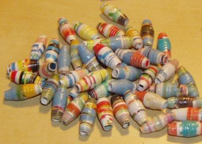 Papier kralen tutorial/ paper beads