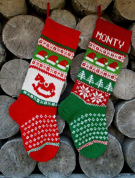 Knit Christmas Stockings ~24